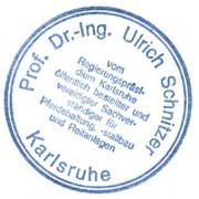 Stempel Prof. Dr.-Ing. Ulrich Schnitzer: oeffentlich bestellter und vereidigter Sachverstaendiger fuer Pferdehaltung, -stallbau und Reitanlagen