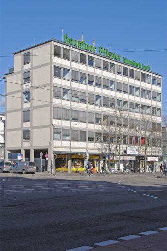 Projektbild Fassadensanierung eines Ärztehauses in Karlsruhe mit Link zur Projektseite