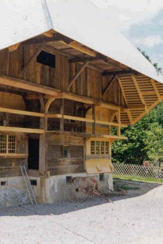 Projektbild Umsetzung des historischen Falkenhofs ins Freilichtmuseum Vogtsbauernhof Gutach, Schwarzwald mit Link zur Projektseite