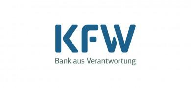 Logo KfW mit Link zur KfW-Homepage: Förderprogramme Bestandsimmobilien