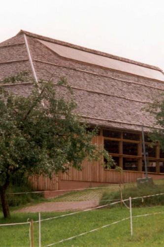 Projektbild Neubau einer Reithalle auf dem Moenchhof in Gaggenau-Moosbronn mit Link zur Projektseite