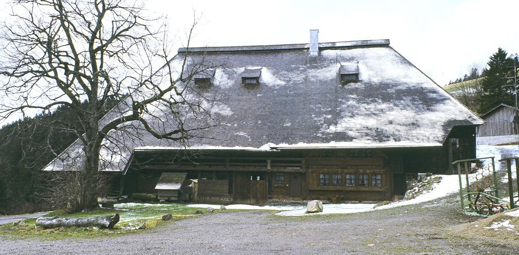 Projektbild von der Restaurierung des Bühlhofes, Gütenbach