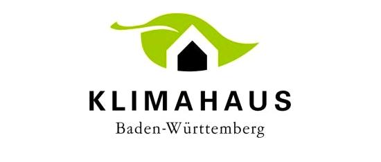 Logo Klimahaus Baden-Württemberg mit Link zur Homepage der Karlsruher Klimahäuser auf der Homepage der Stadt Karlsruhe